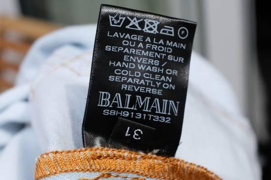 Balmain Light Blue Biker Jeans Size US 31 - 11