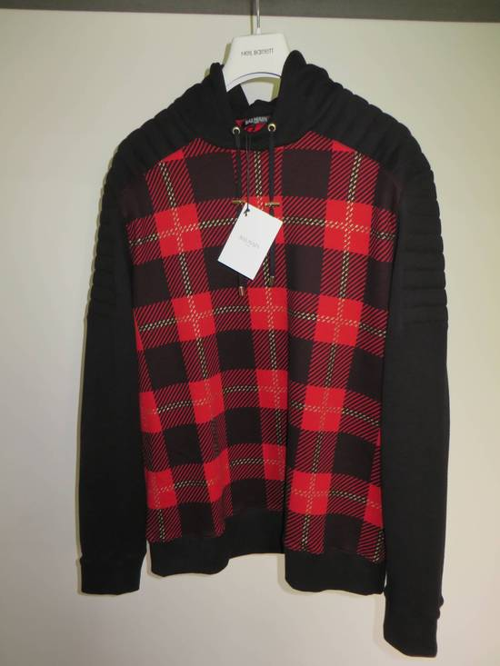 Balmain Tartan hooded sweatshirt Size US XL / EU 56 / 4