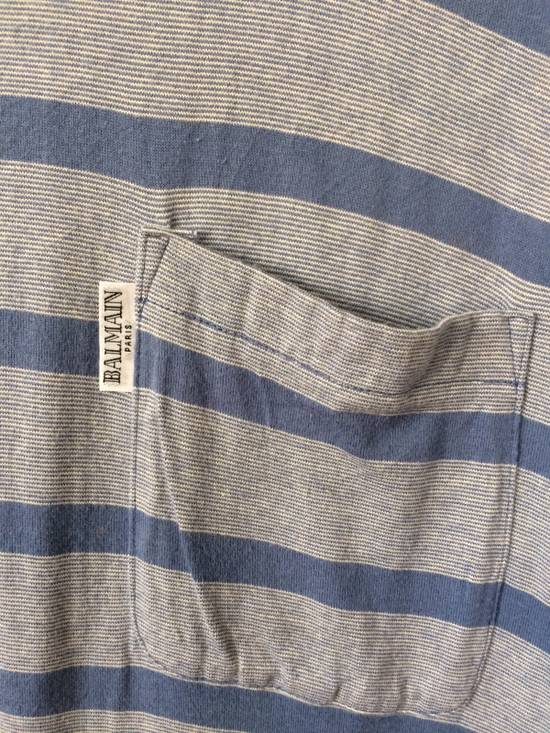 Balmain RARE PIRRE BALMAIN V-NECK SHIRT SINGLE POCKET STRIPED DESIGNER FASHION SIZR MEDIUM Size US M / EU 48-50 / 2 - 2