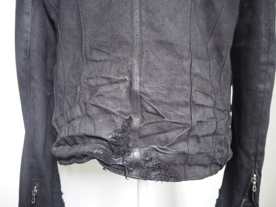 Julius Neurbanvolker black disstressed heavy waxed coat as new Size US L / EU 52-54 / 3 - 8