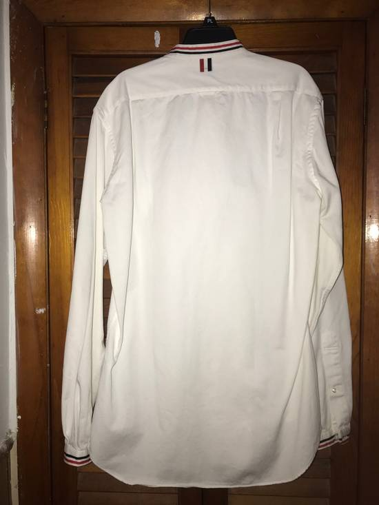 Thom Browne Thom Browne Collarless White Oxford Button Up large Size US L / EU 52-54 / 3 - 1
