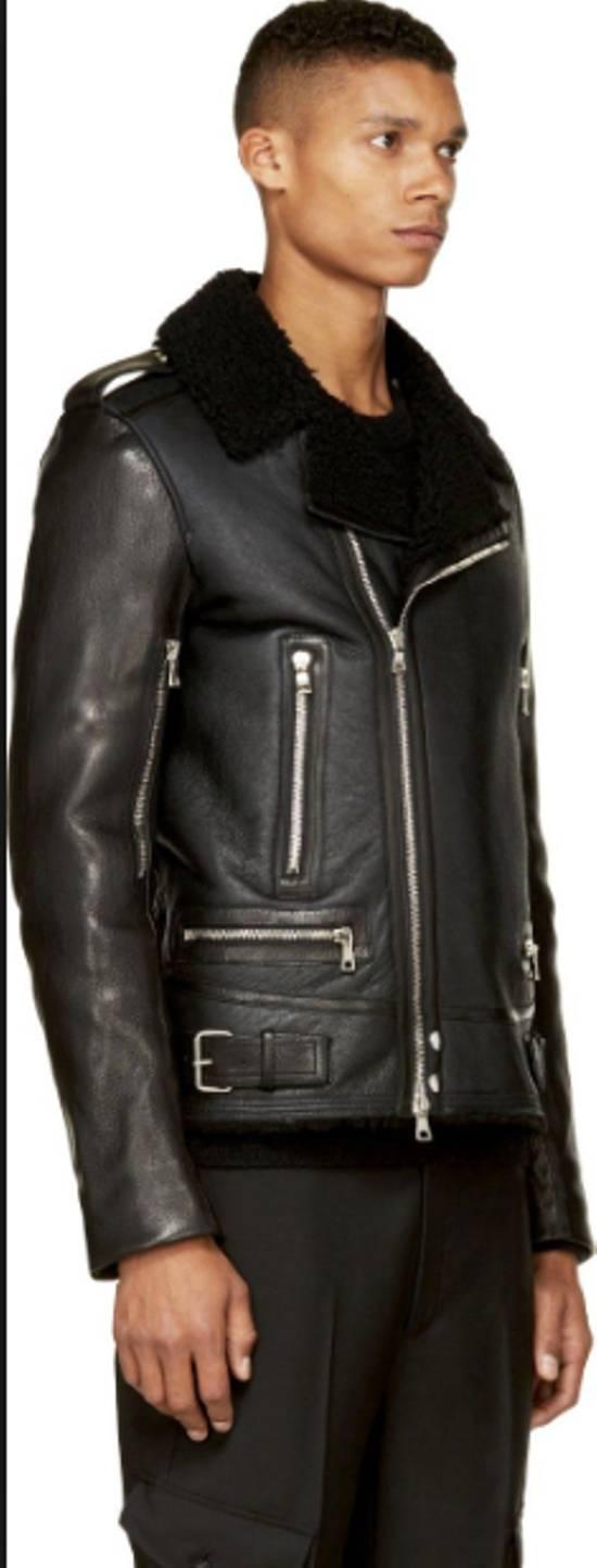Balmain shearling leather biker jacket Size US M / EU 48-50 / 2 - 1