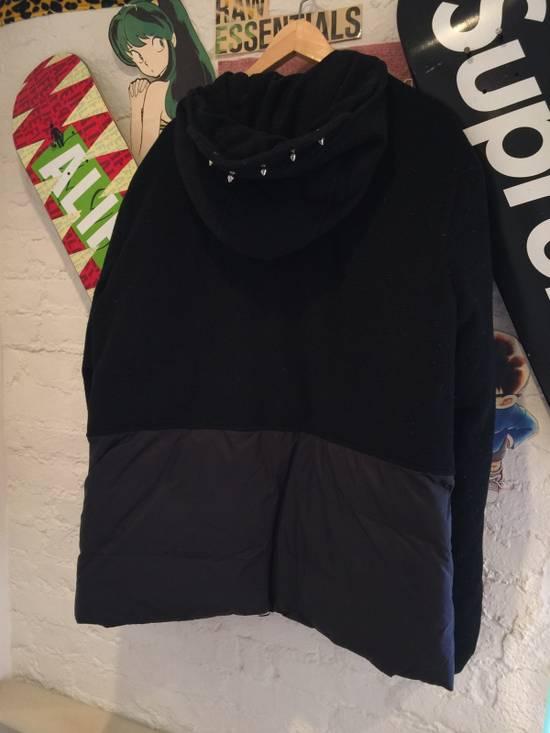 Balmain Hooded Down Wool/Nylon Coat Size US L / EU 52-54 / 3 - 2