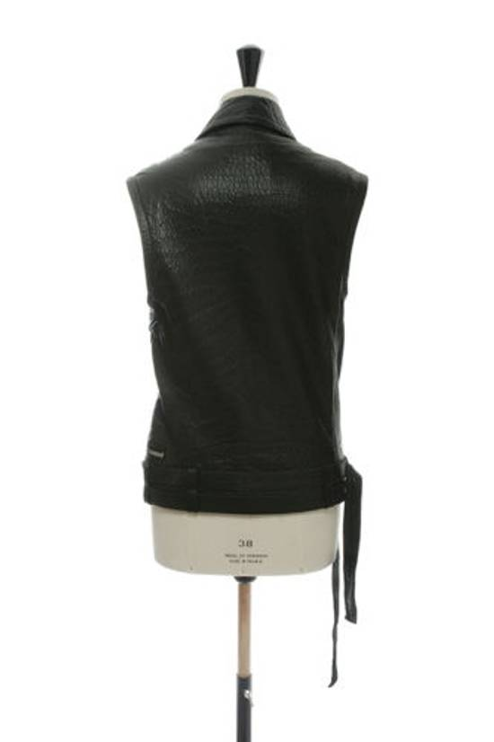 Balmain BALMAIN classic black pebble leather sleeveless biker jacket S FR46 US36 UK36 Size US S / EU 44-46 / 1 - 4