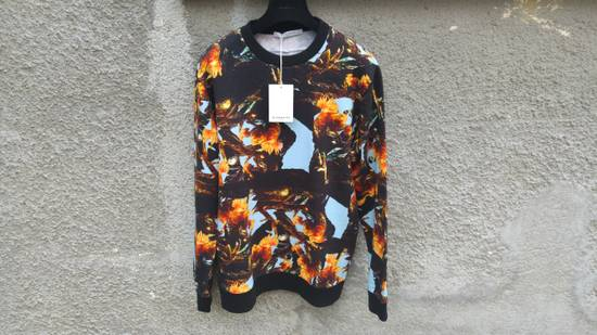 Givenchy $760 Givenchy Monkey Rooster Fight Print Rottweiler Stars Sweater size L Size US L / EU 52-54 / 3