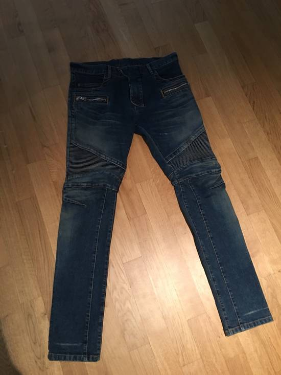 Balmain Balmain Light/Dark Blue Biker Jeans Size US 33 - 3