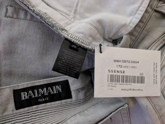 Balmain BNWT Balmain Gray Biker Jeans size 35 Size US 35 - 7