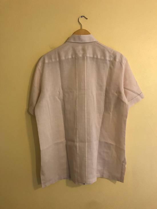 Givenchy Linen Pink Short Sleeve Button Up Size US L / EU 52-54 / 3 - 1