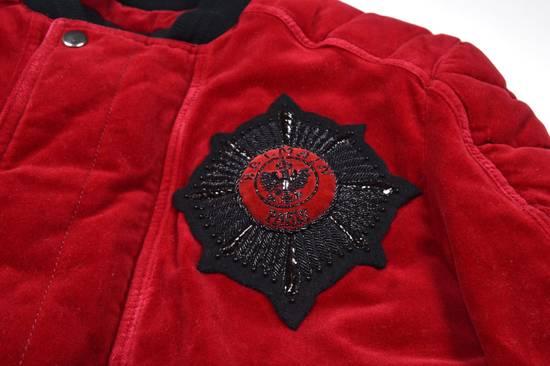 Balmain Badge Embellished Red Velvet Bomber Size US S / EU 44-46 / 1 - 1