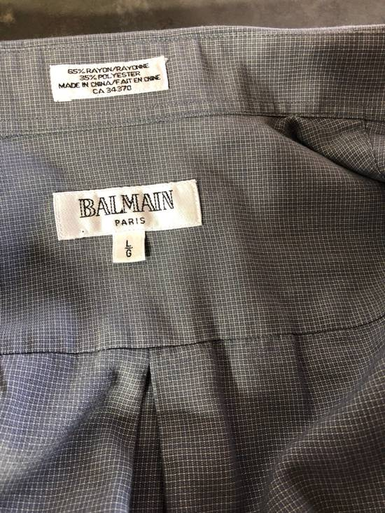 Balmain Grey Pattern Button Down Size US L / EU 52-54 / 3 - 4