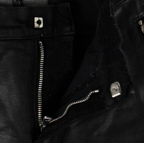 Balmain BNWT Biker Skinny Waxed Denim Black Zipper Jeans Size US 30 / EU 46 - 5