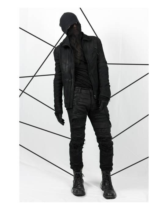 Julius AW12 Black Destroyed Lamb Jutneck Leather Jacket Size US M / EU 48-50 / 2 - 5