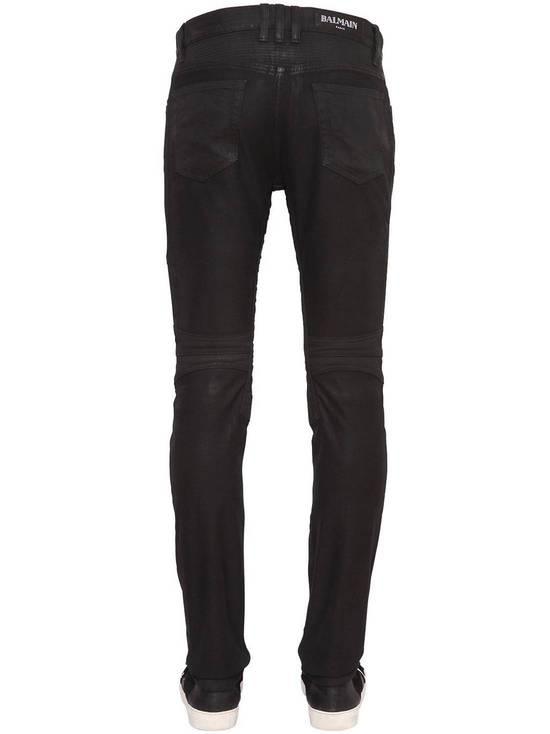 Balmain Balmain Black Denim Coated Authentic Biker $1230 Jeans Size 30 Brand New Size US 30 / EU 46 - 2