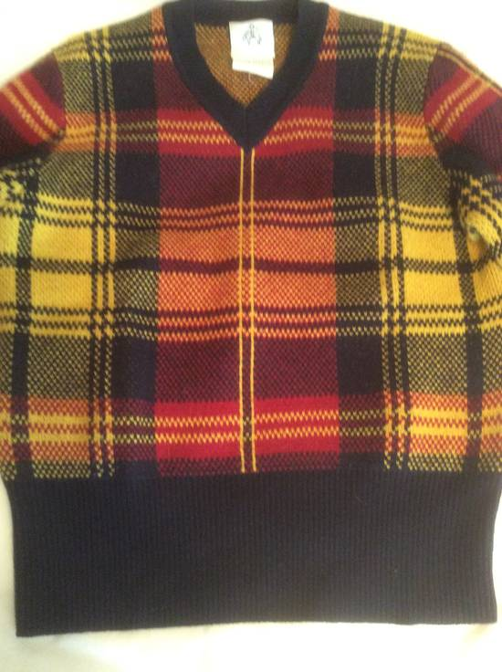 Thom Browne Plaid Black TB/BB Fleece Sweater Size US S / EU 44-46 / 1