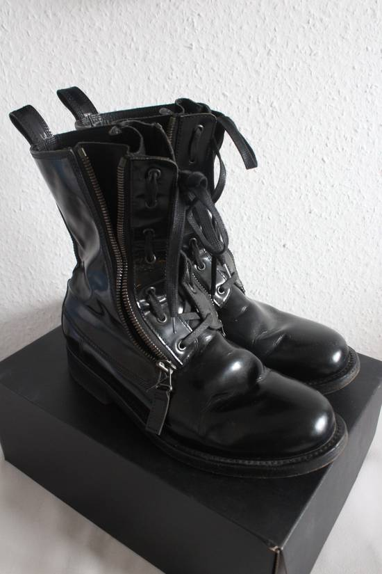 Balmain FW10 Campaign Patent Leather Ranger Boots Decarnin Size US 11 / EU 44