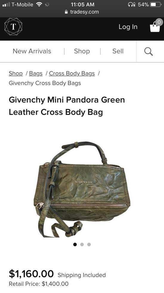 Givenchy givenchy mini pandora green leather cross bag Size ONE SIZE - 5
