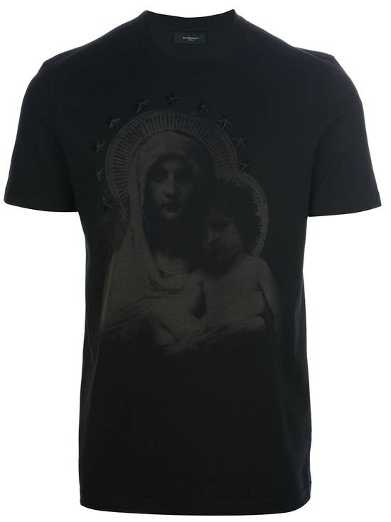 Givenchy Black Madonna Shirt Size US S / EU 44-46 / 1 - 5