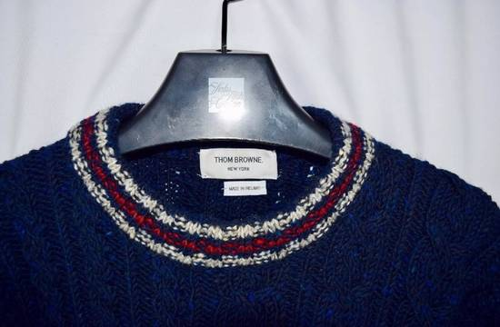 Thom Browne Thom Browne Navy Fisherman Aran Thick Wool Sweater Crewneck Size 2 Size US M / EU 48-50 / 2 - 2