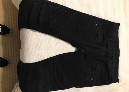 Balmain Black Cotton Biker Jeans Size US 30 / EU 46 - 4