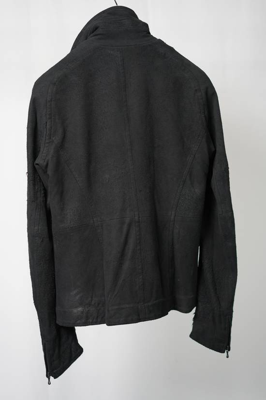 Julius AW12 Black Destroyed Lamb Jutneck Leather Jacket Size US M / EU 48-50 / 2 - 1