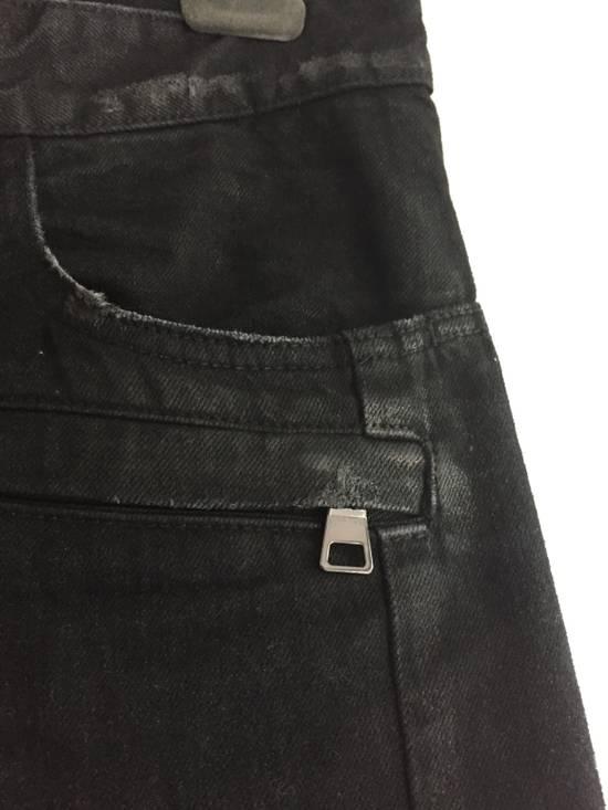 Balmain Distress Waxed Jeans Size US 28 / EU 44 - 6