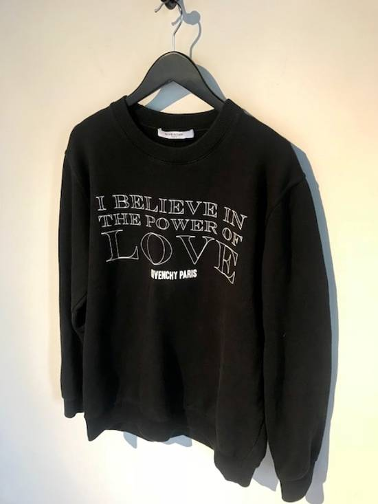 "Givenchy Givenchy ""Love"" Printed Black Sweatshirt Size US M / EU 48-50 / 2"