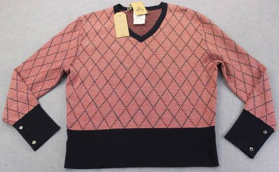 Thom Browne Burgundy Argyle V-Neck Sweater Size 4 NEW Size US XL / EU 56 / 4 - 3