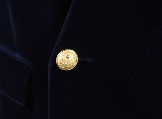 Balmain Balmain Blue Velvet Blazer Size 46R - 3