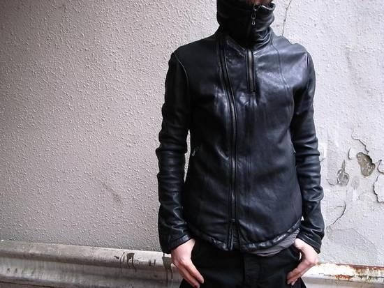 Julius JULIUS _7 ma high neck black lamb biker jacket slim fit Japan Size US S / EU 44-46 / 1
