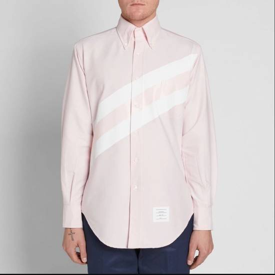 Thom Browne Pink Diagonal line Shirts SS17 Size US M / EU 48-50 / 2