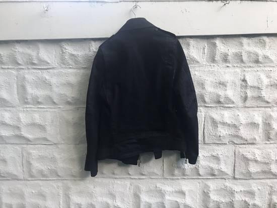 Balmain SS15 Waxed Cotton Biker Jacket Size US XL / EU 56 / 4 - 2