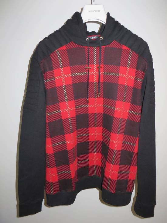 Balmain Tartan hooded sweatshirt Size US XL / EU 56 / 4 - 1
