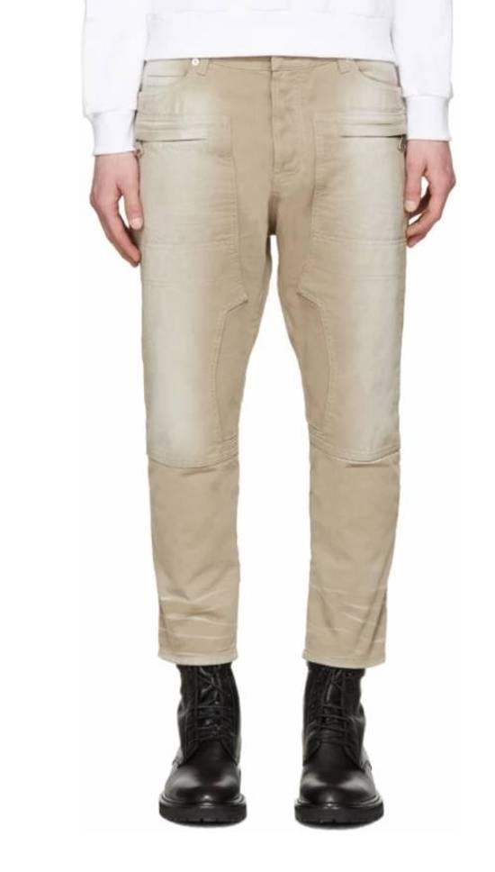 Balmain Tan Carpenter Jeans ( Priced To Sell) Size US 34 / EU 50 - 4