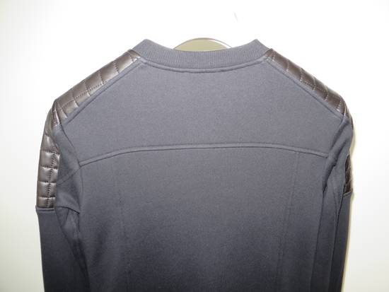 Balmain Quilted leather and cotton sweatshirt Size US XS / EU 42 / 0 - 10