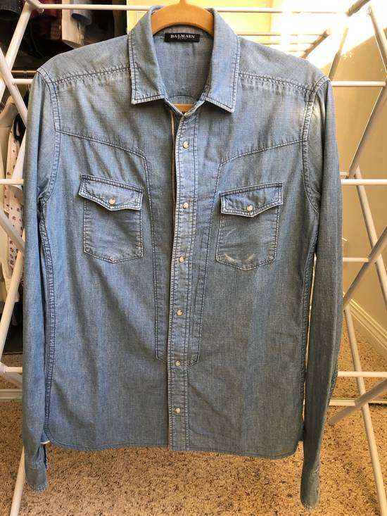 Balmain Balmain Decarnin Era Denim Shirt Size US M / EU 48-50 / 2