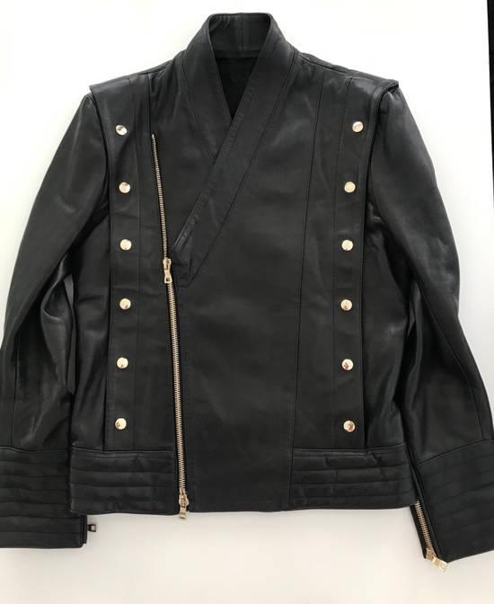 Balmain Balmain Black Leather Jacket Size US M / EU 48-50 / 2