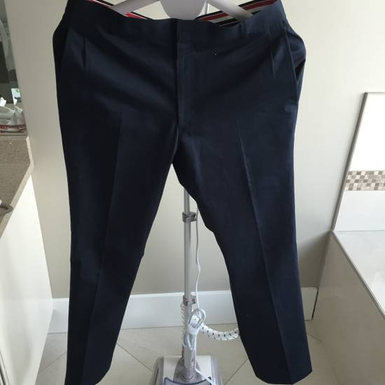 Thom Browne Navy Chino Size US 33 - 1