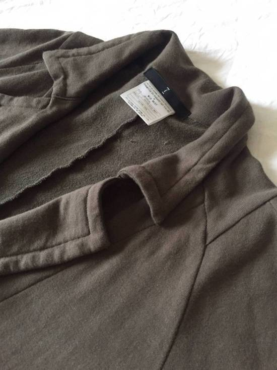 Julius Japan made long jersey oversize Popper fastening Gasmask pocket jacket Size US S / EU 44-46 / 1 - 13