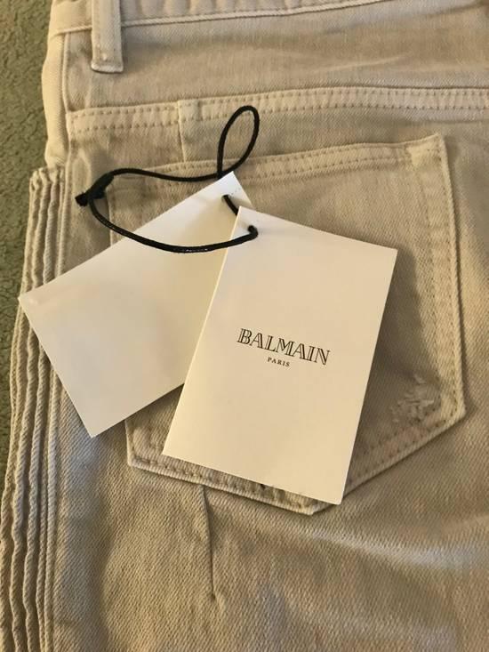 Balmain Distressed stretch-denim biker jeans Size US 31 - 6