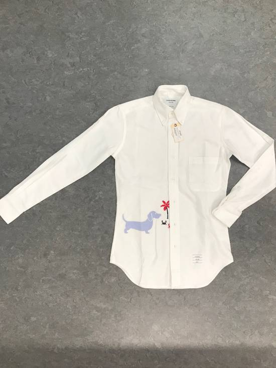 Thom Browne 🔥$700 OFF🔥[CLEARANCE] THOM BROWNE Dog Hector Palm Embroidered Oxford Size US XS / EU 42 / 0