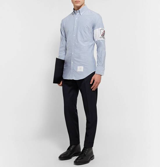 Thom Browne Slim-Fit Button-Down Collar Embroidered Cotton Oxford Shirt Size US S / EU 44-46 / 1 - 1