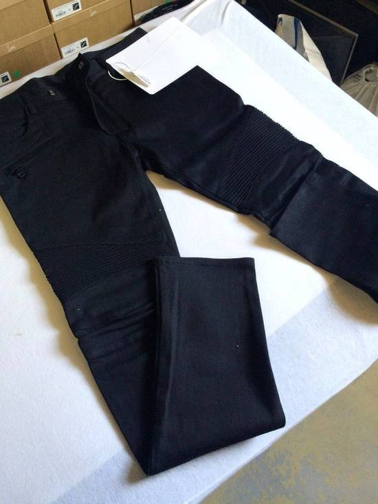 Balmain Balmain Authentic $990 Black Biker Jeans Size 36 Skinny Fit Brand New With Tags Size US 36 / EU 52 - 1