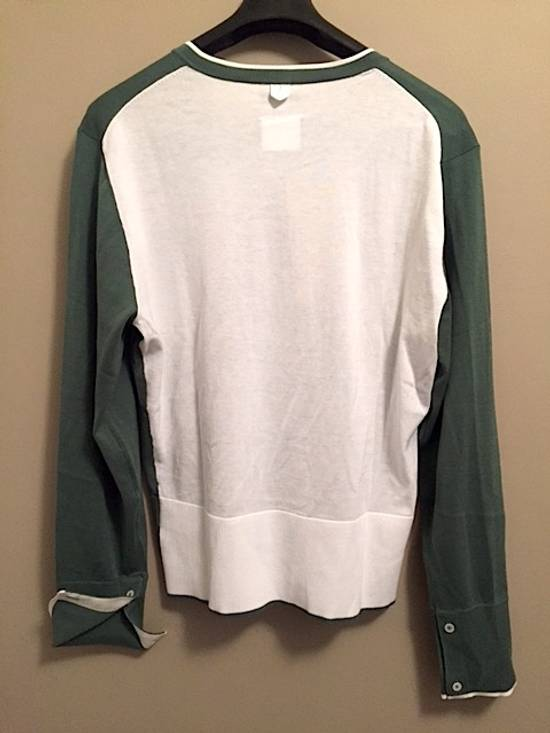 Thom Browne Green-White Color Block Sweater NEW Size US XL / EU 56 / 4 - 1