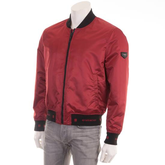 Givenchy Dark Red Nylon Givenchy Paris 4G Bomber Jacket Size US M / EU 48-50 / 2 - 1