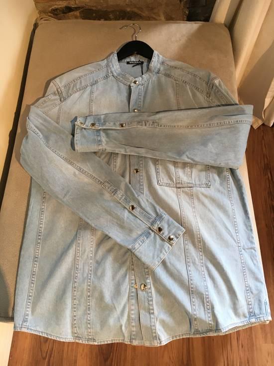 Balmain Balmain Mao Collar Denim Shirt Size US XXL / EU 58 / 5 - 4