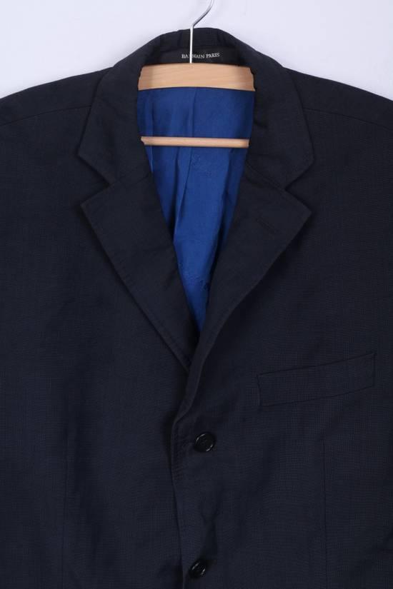 Balmain Balmain Mens 40 M Jacket Navy Wool Single Breasted Blazer 4515 Size 40R - 1