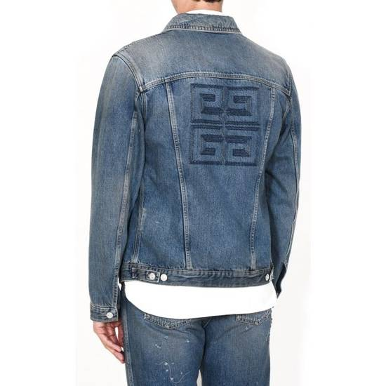Givenchy 4G Embroidered Denim Jacket Size US XL / EU 56 / 4 - 2