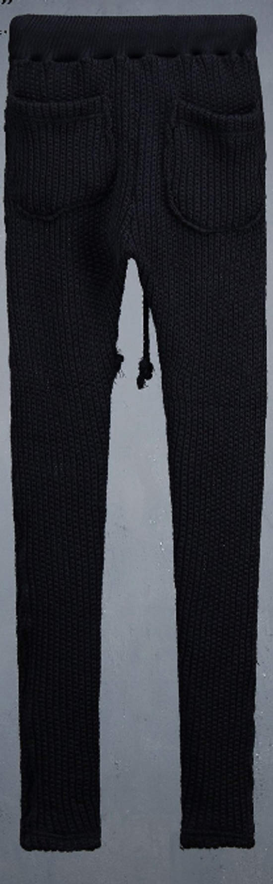 Julius Byther - black julius knit pants - like thom krom, boris bidjan saberi, silent damir doma, rick owens Size US 32 / EU 48 - 7