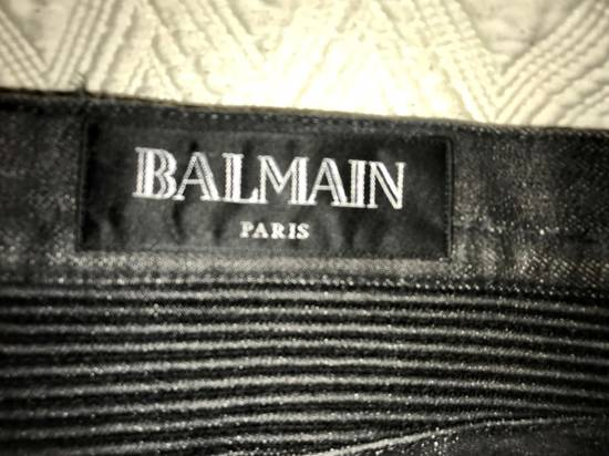Balmain Distressed Slim Biker Jeans Size US 34 / EU 50 - 6