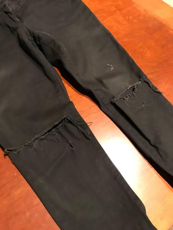 Balmain Rare Black Decarnin Zip Denim Size US 32 / EU 48 - 5